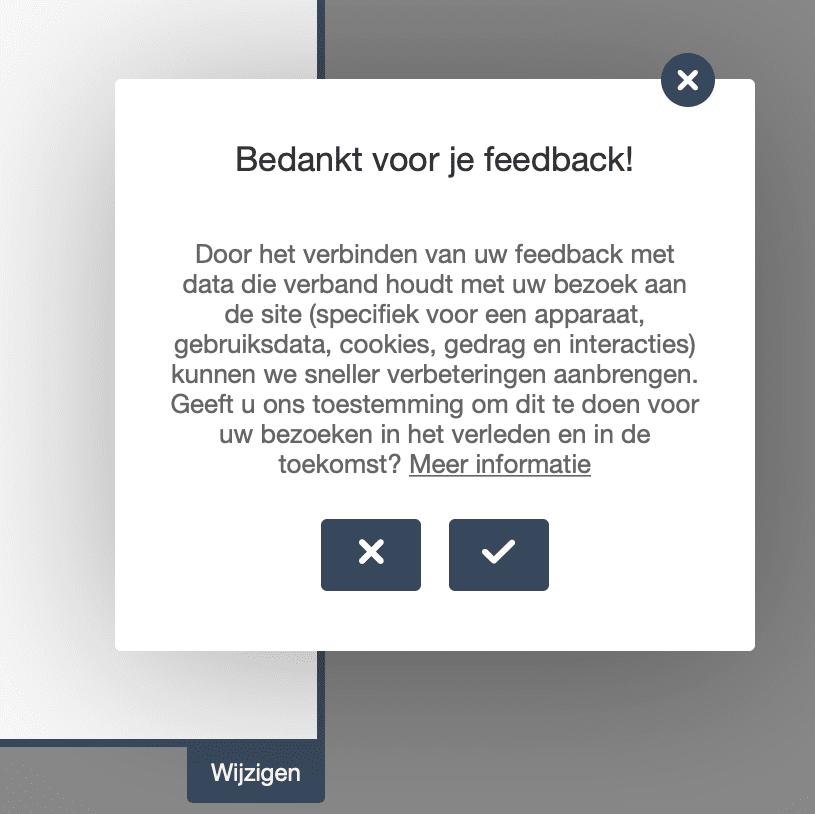Feedback module bij Peppix Benelux