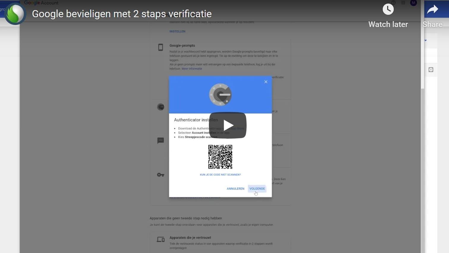 Tweestapsverificatie binnen Google Workspace account bij Peppix Benelux