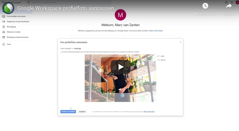 Google Workspace profielfoto aanpassen? Bekijk deze video bij Peppix Benelux
