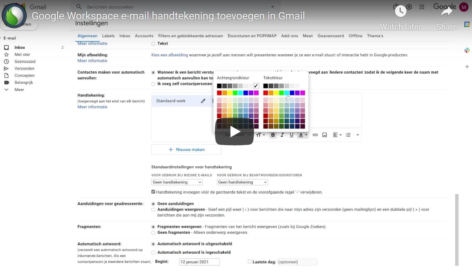 Gmail handtekening toevoegen doe je zó bij Peppix Benelux