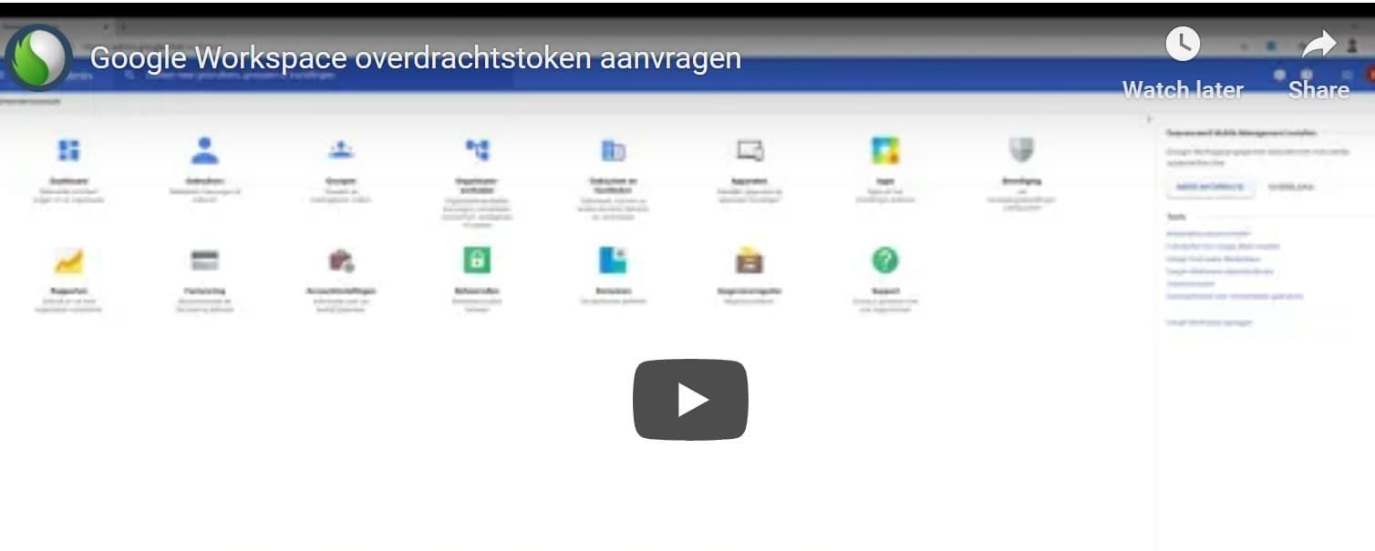 Google Workspace Transfer Token, hoe vraag ik een overdrachtstoken aan? bij Peppix Benelux