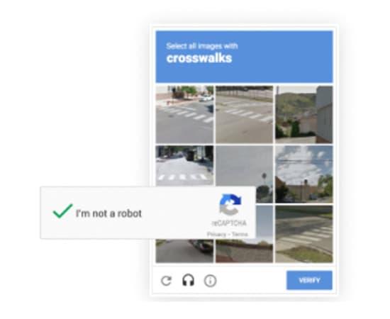 Google reCaptcha bij Peppix Benelux